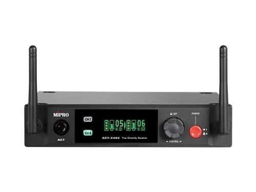 ^聖家^MIPRO 嘉強2.4G 半U雙頻道接收機(具SCAN掃頻功能) ACT-2402【全館刷卡分期+免運費】