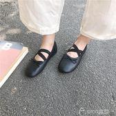 單鞋女夏新款韓版學生百搭平底芭蕾舞鞋交叉淺口蝴蝶結豆豆鞋 ciyo黛雅