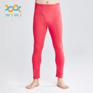 【WIWI】MIT溫灸刷毛內著發熱褲(朝陽紅  男S-3XL)