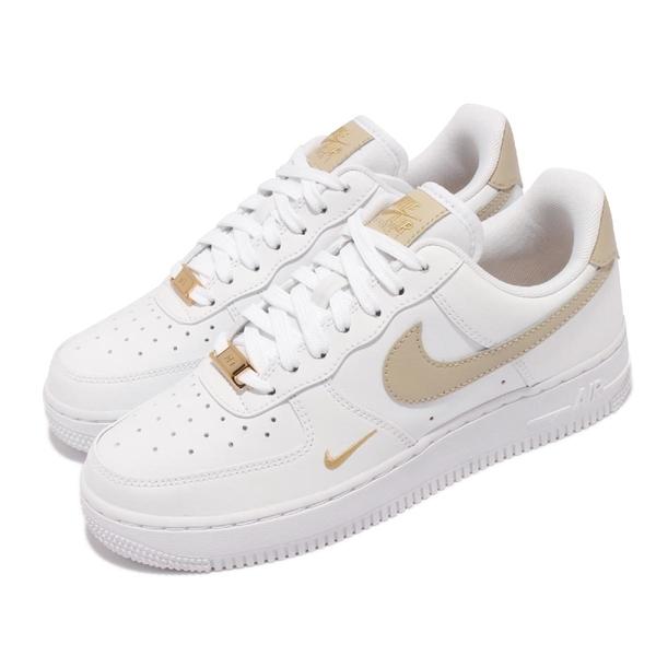Nike 休閒鞋 Wmns Air Force 1 07 Ess 白 小金勾 金標 小白鞋 女鞋 AF1 【ACS】 CZ0270-105
