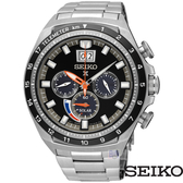 SEIKO 精工 SSC603P1(V194-0AA0D) 太陽能 三眼計時 男錶/黑/45mm