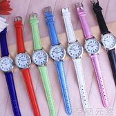簡約清新小女孩數字手錶 兒童女學生石英防水電子皮錶 考試用腕錶 至簡元素