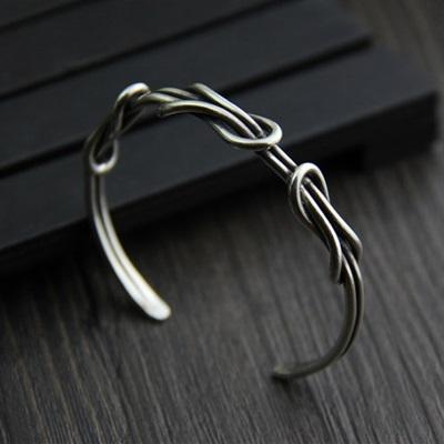 純銀手環(泰銀)-時尚編織生日情人節禮物女手鐲73gg22【時尚巴黎】
