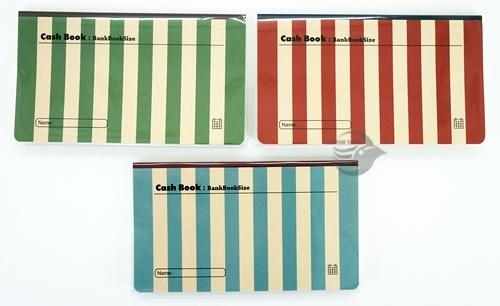 【金玉堂文具】條紋復古色 記帳本 存摺收支簿 CASH BOOK