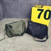 尼龍包大容量休閒側背包簡約時尚尼龍斜背包男女短途旅行袋運動健身包包 春季上新