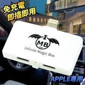 最新一代 蘋果專用 FM發射器 車用mp3 音源轉換器 【 iPhone iPad iPod 】 免電