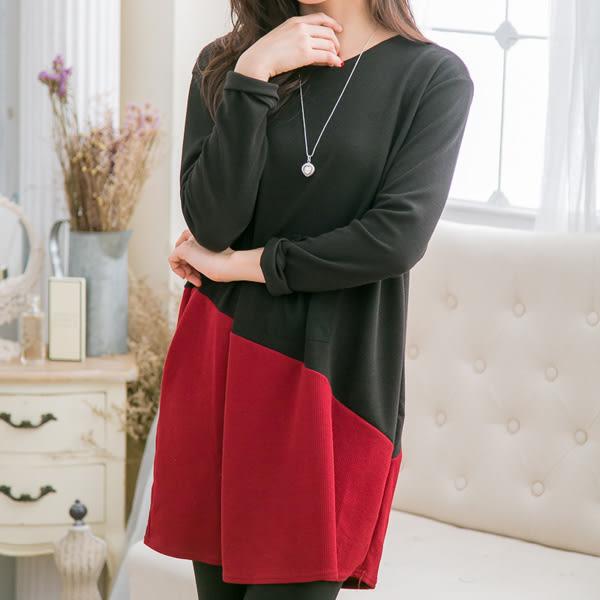*孕婦裝*時尚獨特斜拚色俏皮口袋設計孕婦長版上衣 兩色----孕味十足【CNI906】