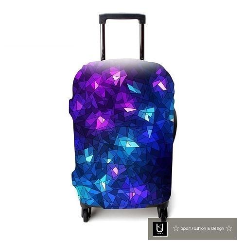 【US.STYLE】魔幻方塊18吋旅行箱防塵防摔保護套(18-22吋適用)