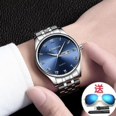 鋼帶超薄手錶男機械潮流正韓個性學生簡約休閒防水夜光石英錶