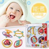 嬰兒玩具牙膠搖鈴0-3-6-12個月新生兒嬰幼兒寶寶玩具0-1歲手搖鈴MJBL