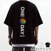 【OBIYUAN】短袖T恤 太陽花 OVERSIZE 重磅 太空棉 短袖衣服 共色【K1010】