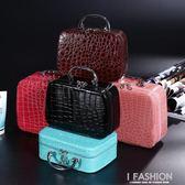 化妝包大容量化妝品收納盒簡約小號便攜手提箱淑女可愛防水旅行袋-Ifashion