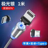 【免運】磁吸數據線蘋果充電器磁鐵式車載三合一通用一拖三iphone安卓type-c手機接頭吸頭