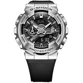 CASIO 卡西歐 重金屬工業風雙顯錶-黑x銀 GM-110-1A