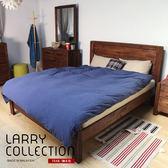 預計7月底- 雙人床 LARRY鄉村系列實木雙人5尺床架 / H&D 東稻家居