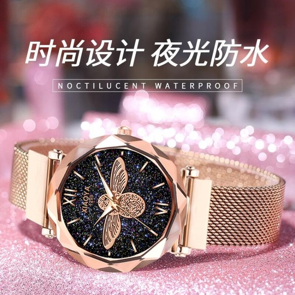 2020新款簡約氣質手錶女士韓版時尚休閒大氣學生防水石英手錶女 台北日光