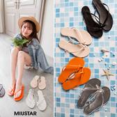 現貨-MIUSTAR 時尚交叉海邊度假夾腳拖鞋(共4色,36-39)【NF3416T1】