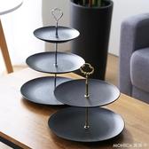 果盤 北歐式三層果盤創意家用客廳茶幾雙多層干果零食盤下午茶點心架 莫妮卡小屋YXS