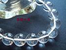 『晶鑽水晶』天然白水晶手鍊10mm圓珠3A級 為良好的護身水晶寶石~.送禮.情人節禮物