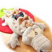 公仔枕頭可愛大號鱷魚毛絨玩具公仔睡覺抱枕長條枕布糖糖日系森女屋