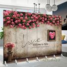 屏風隔斷時尚臥室玄關歐式簡約現代折屏家用單品igo「時尚彩虹屋」