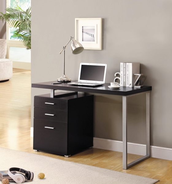 【森可家居】康迪仕摩登電腦書桌(胡桃色) 7JX262-4 辦公桌