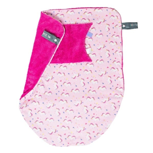Cheeky Chompers Cheeky Blanket 袋鼠搓搓被/防風毯/冷氣毯 獨角獸/送禮(附提袋)