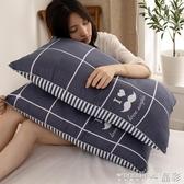 枕頭枕頭枕芯一對裝整頭學生宿舍簡約夏天家用護頸椎枕一只單人雙人男 免運