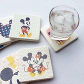 普普風吸水 珪藻土杯墊 (一組=相同款式2入)  迪士尼 杯子 杯墊 手機殼 米奇 米妮維尼生日