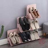 多層簡易鞋架家用靠墻款塑料鞋子收納架門口鞋柜【櫻田川島】
