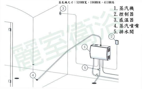 【麗室衛浴】芬蘭原裝 HARVIA  STEAM  蒸汽機 5.7KW  HGS60