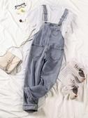 春裝2020新款韓版寬鬆顯瘦連體九分褲學生網紅森女系牛仔背帶褲女