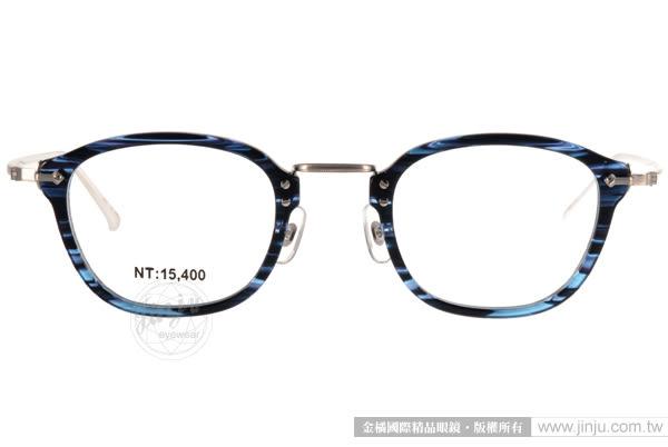 STEADY 光學眼鏡 STDF17 MT06 (流線藍-銀)  日本手工製造 # 金橘眼鏡