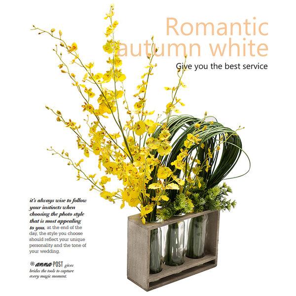 模擬花假花 套裝 花藝 客廳餐桌 裝飾花 花瓶花束 -bri02043