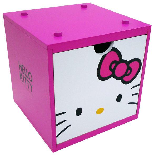 【震撼精品百貨】Hello Kitty 凱蒂貓~彩色積木盒~桃紅【共1款】