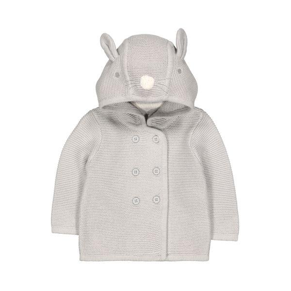 mothercare 灰色兔子連帽外套-外出系列(M0QD831)06M~24M