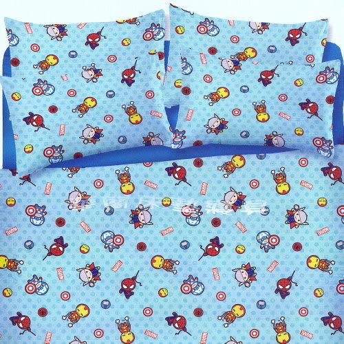 *華閣床墊寢具*《美國隊長/復仇者聯盟-超萌英雄》單人床包鋪棉兩用被套組 超柔軟磨毛工法