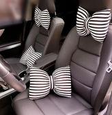 汽車頭枕可愛蝴蝶結護頸枕女 卡通靠枕車用枕頭 腰靠抱枕車載飾品 英雄聯盟