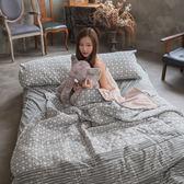 海棠花 雙人兩用被乙件 四季磨毛布 北歐風 台灣製造 棉床本舖