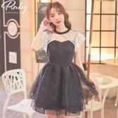 洋裝 前挖空蕾絲歐根紗無袖洋裝-Ruby s 露比午茶
