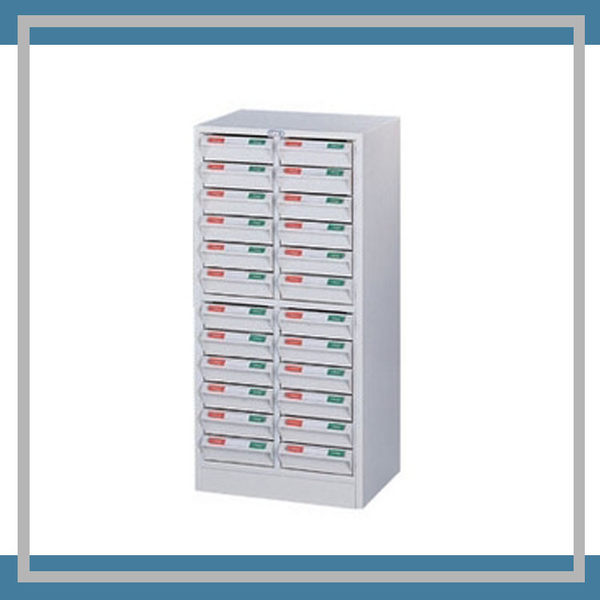 【必購網OA辦公傢俱】CK-1224A (ABS) 牙白 表單櫃 零件櫃