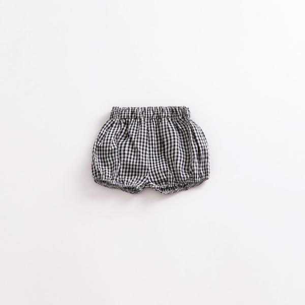 女童黑白小格子短褲 女童 短褲 休閒褲 格子褲 屁屁褲 嬰兒 新生兒 橘魔法 現貨