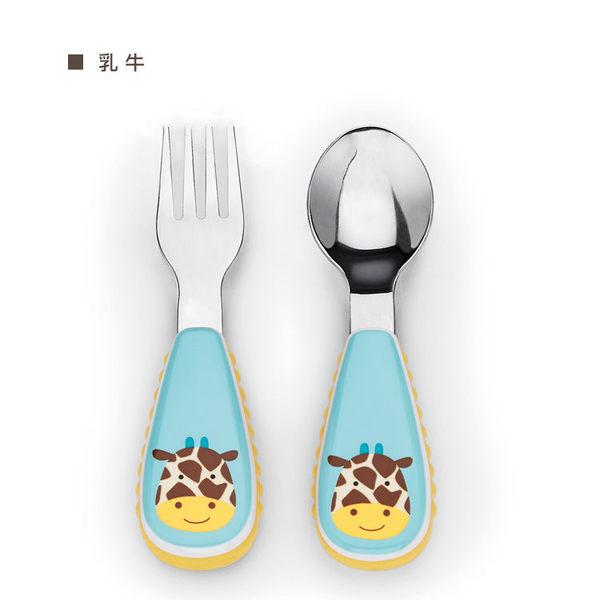 skip*hop可愛動物園餐具叉及匙(長頸鹿)