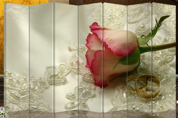 七扇屏風-浪漫玫瑰702
