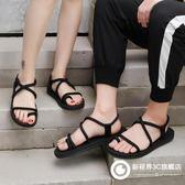 港風涼鞋男夏季新款韓版沙灘鞋學生青年休閑百搭防滑情侶涼鞋