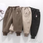 男童加絨加厚褲子一條過冬2外穿3小童4冬季5三層夾棉寶寶保暖棉褲 雙十一全館免運