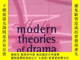 二手書博民逛書店Modern罕見Theories Of Drama: A Sel