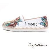 【Joy&Mario】新潮設計師塗鴉款草編男鞋 - 57269M YELLOW 美碼9.5