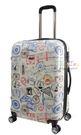AIRWALK 世界 郵戳 滿版 行李箱 登機箱 20吋 米白色