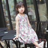 女童連身裙童裝女童夏裝2018新品兒童夏季棉質連身裙寶寶洋氣裙子女孩公主裙(七夕禮物)